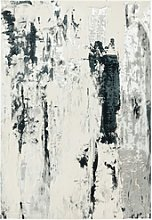 Large Black and Grey Rug - 200x290cm - Astral