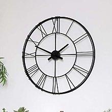 Large Black Metal Skeleton Wall Clock