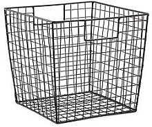 Large Black Wire Square Storage Basket