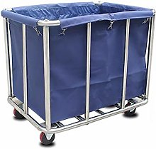 Large Blue Laundry Collector Service Cart, Hotel