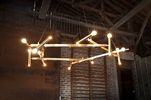 Large brass chandelier Izaar