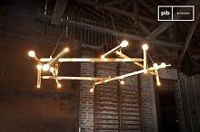 Large brass chandelier Izaar