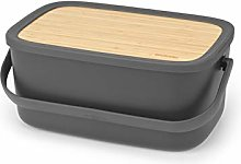 Large Bread Bin with Wooden Serving Board and