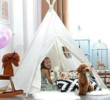 Large Canvas Cotton Kids Teepee Tent Childrens