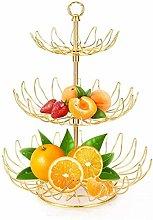 Large Capacity 3-Tier Metal Fruit Basket. Fruit