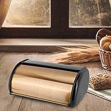 Large Capacity Durable Bread Box, Gold Bread Bin,