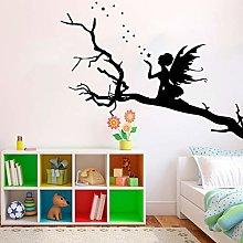 Large Cartoon Angel Tree Star Fairy Tale Wall