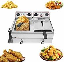 Large Commercial Deep Fat Fryer,16.9QT / 16L Total