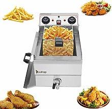 Large Commercial Deep Fat Fryer,8.5QT/8L Total
