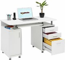 Large Computer and Writing Desk with A4 Filing, 2