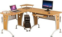 Large Corner Computer and Gaming Desk Table with