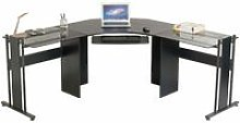 Large Corner Computer Desk Office Table with Glass
