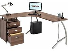 Large Corner Computer Desk with 3 Drawers and A4