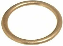 LARGE Curtain Upholstery Rings Hollow Brass (Pack