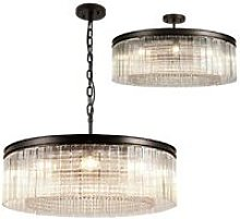 Large Cylindrical Ceiling Pendant, 10 Light E14,