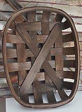 Large Dark Brown Tobacco Basket Farmhouse Wall