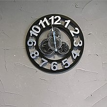 Large Decorative Silent Wall Clock with Roman