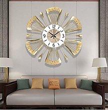 Large Decorative Wall Clock, Leaf Shape Metal
