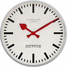 Large Deep Chrome Clock - 45cm