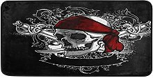 Large Door Mat Art Skull Head And Knife Door Mat