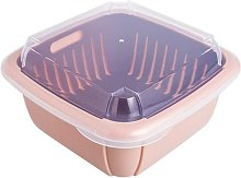 Large Double Layer Refrigerator Drain Basket with