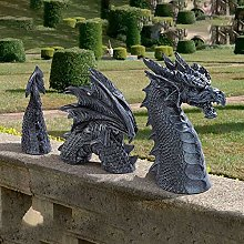 woyada MystiCalls Garden Dragon Meditated Statue Collecting 16cm Resin Ornament Outdoor Yard Decoration