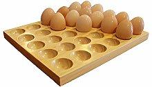 Large Egg Holder, Rustic Wooden Egg Tray - For 30