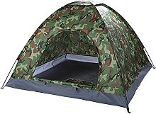 Large Family Camping Green Tent 3-4 Person,Quick