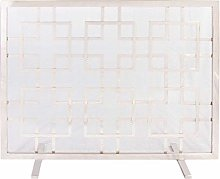 Large Fire Screen - Vintage Style Mirrored Mosaic