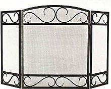 Large Fireplace Screen, Black Folding