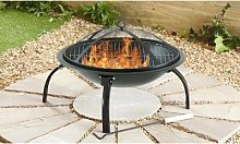 Large Foldable Firepit with Four-Piece Marshmallow
