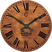 Large French Wine Château Wall Clock Roger