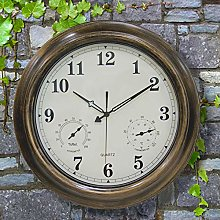 Large Garden Wall Clock Outdoor Waterproof With