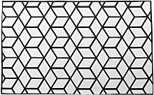 Large Geometric Lattice Area Rug Mat Modern Carpet