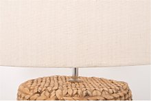 Large Glass Table Lamp with Rope Finish