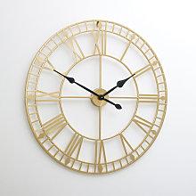 Large Gold Skeleton Wall Clock