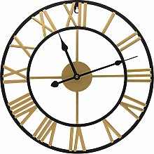 Large Golden Wall Clock, Silent Kitchen Clocks,