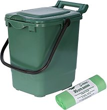 Large Green Compost Caddy/Plastic Kerbside Bin for