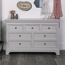 Large Grey 7 Drawer Chest of Drawers - Daventry