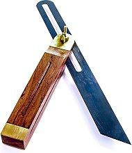 Large Hardwood Sliding Bevel + Brass Inlay Fitting