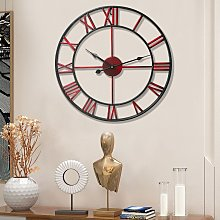 Large In/Outdoor Garden Wall Clock Roman Numeral