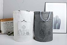 Large Laundry Bag White and Gray 2 Pack Waterproof