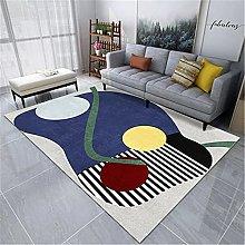 Large Living Room Rug Geometric Stripe Pattern