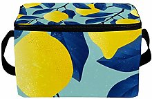 Large Lunch Bag Leakproof Tote Bag Tropical Yellow