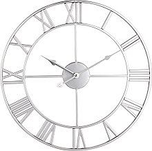 Large Metal Decorative Wall Clock, Ancient Roman