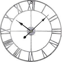 Large Metal Wall Clock, European Industrial