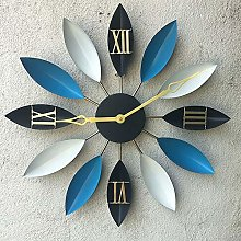 Large Metal Wall Clock,Vintage Retro 3D Silent