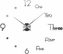 Large Modern 3D Stick on Wall clock, Silent non