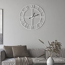 Large Modern Metal Wall Clocks Rustic Round Silent