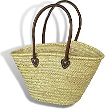 Large Moroccan Shopping Basket - Shoulder handles